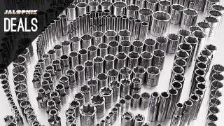 Illustration for article titled 299 Sockets, Garage Organizer, Booster Cables [Deals]