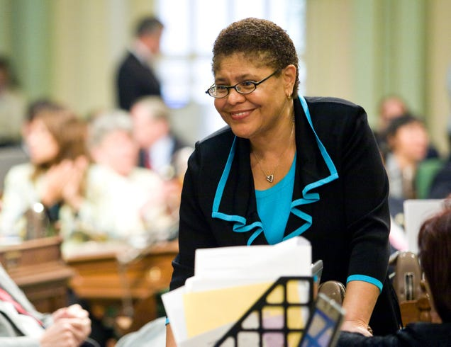 Then-California state Assembly Speaker Karen Bass in Sacramento, Calif., on July 24, 2009 (Max Whittaker/Getty Images)