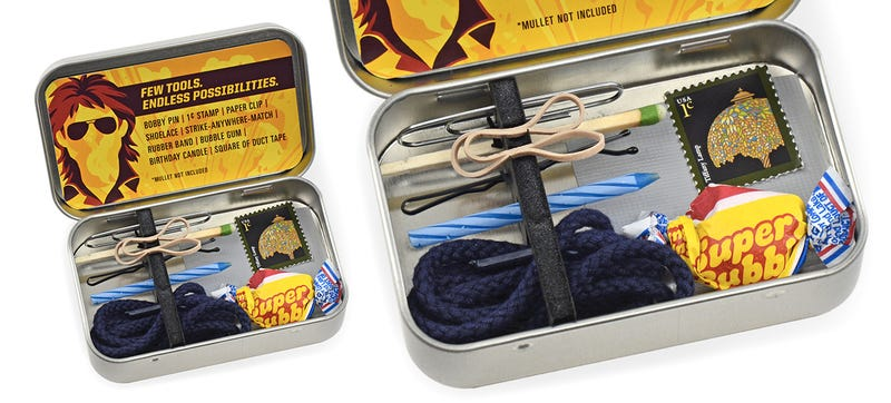 Illustration for article titled This Tiny MacGyver Emergency Toolkit Will Get You Out of Any Situation
