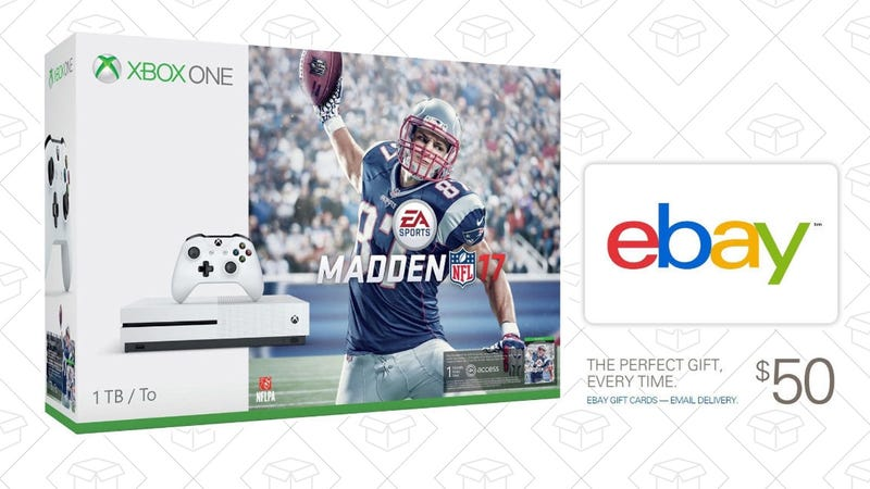 Xbox One S Madden Bundle + $50 eBay Gift Card, $350