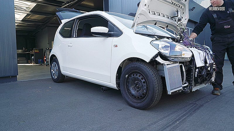 Of Course This Tiny Volkswagen Up! Needed A Turbo 1.8-Liter Audi Engine Stuffed Inside