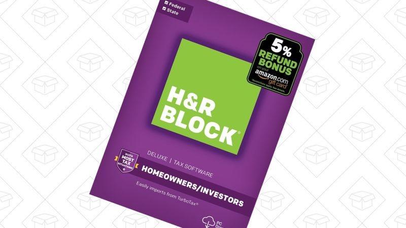 H&R Block Deluxe + Estado   $18   AmazonGráfico: Shep McAllister