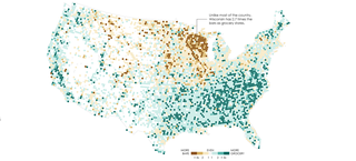 Illustration for article titled Maps of Where Bars Outnumber Grocery Stores