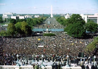 The Million Man March on Oct. 16, 1995 (Getty)