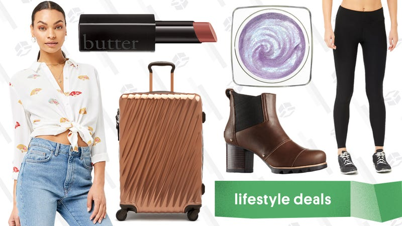 Illustration for article titled Wednesday's Best Lifestyle Deals: Forever 21, Sorel, TUMI, Butter London, and More