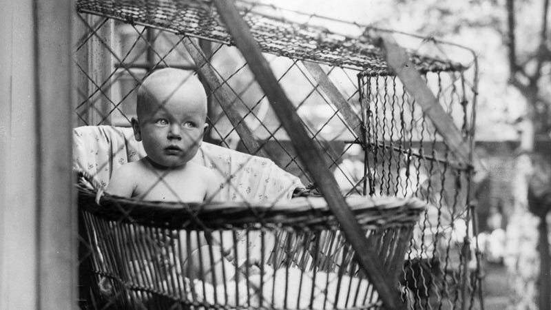 Illustration for article titled Putting Your Baby in a Cage Used to Be Perfectly Acceptable