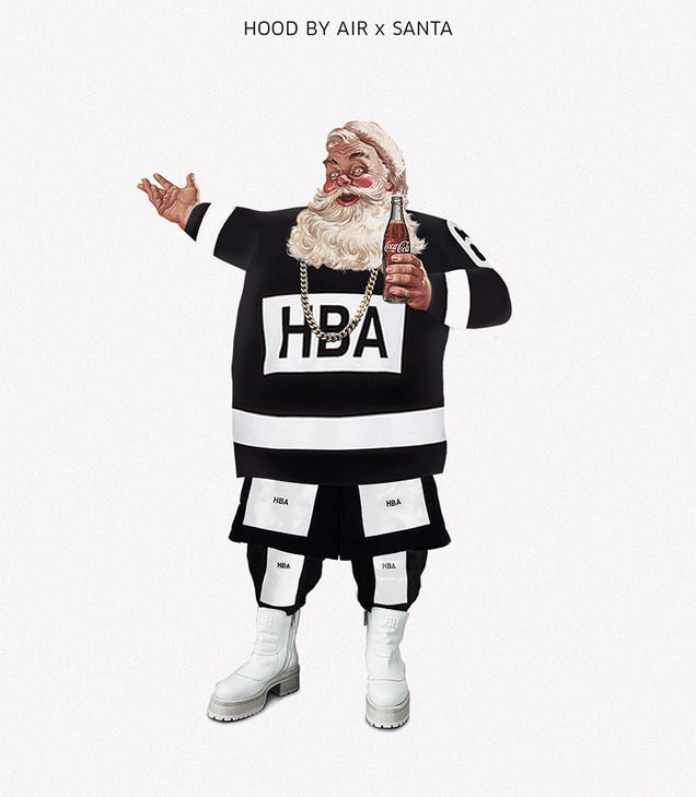 9bf4bcab5a351 Designer Postcards Turn Santa Into a Fashion Whore