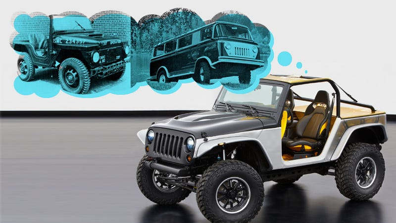 Illustration for article titled Jeep's Moab Safari Concepts Reveal A New Obsession With Slush Mats