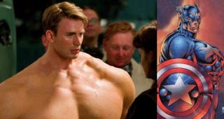 Illustration for article titled What if movie Captain America had the body of comic book Captain America?