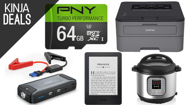 Illustration for article titled Today's Best Deals: Flash Storage, $50 Laser Printer, Kindles, & More
