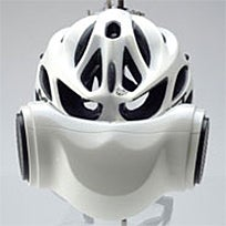 Illustration for article titled Breathe Air Helmet Makes You One Intimidating Cyclist
