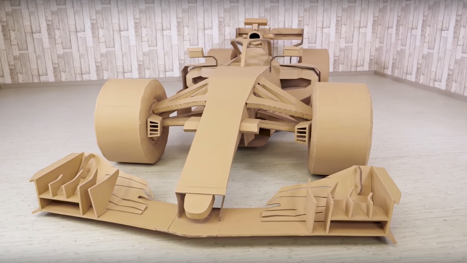 Watching This Cardboard F1 Car Get Built Is Better Than Some Races