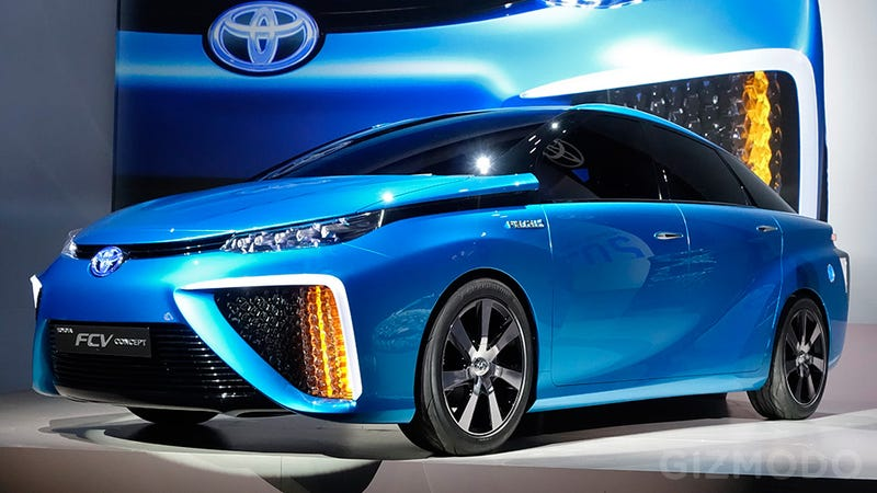 Illustration for article titled Water Vapor Will Be the Only Emission From Toyota's New Fuel Cell Car