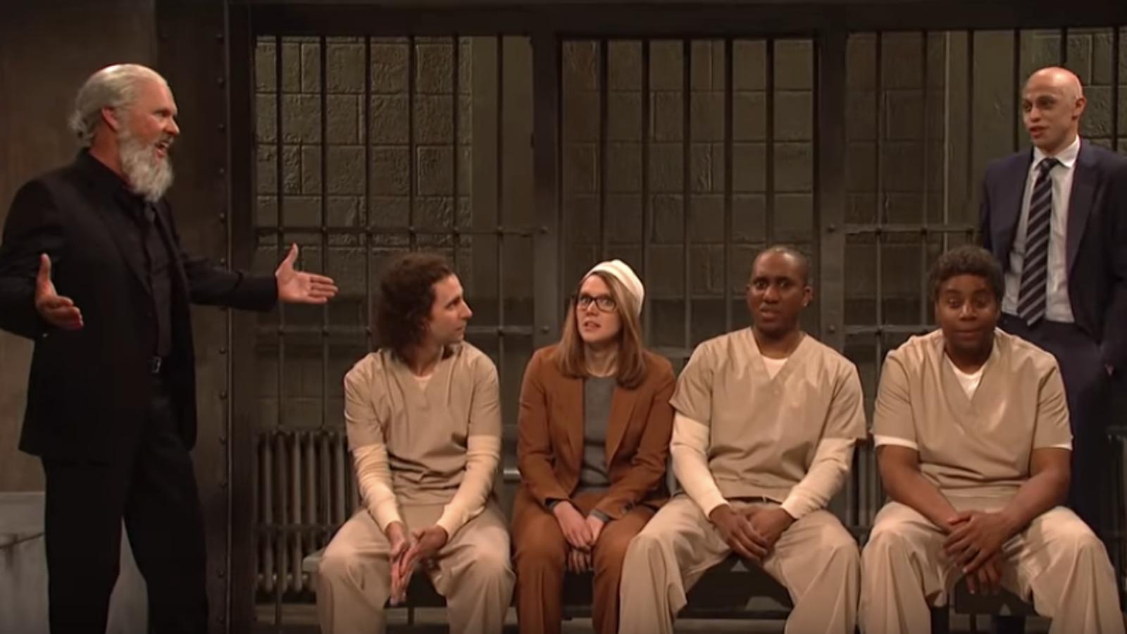 Michael Keaton drops by as Julian Assange to assist SNL roast the most recent celeb jailbirds - The A.V. Club thumbnail