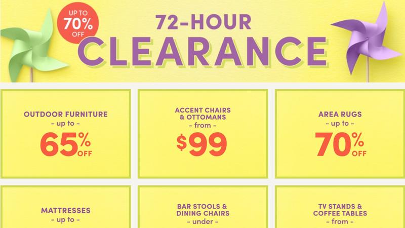 72-Hour Clearance Sale | Wayfair