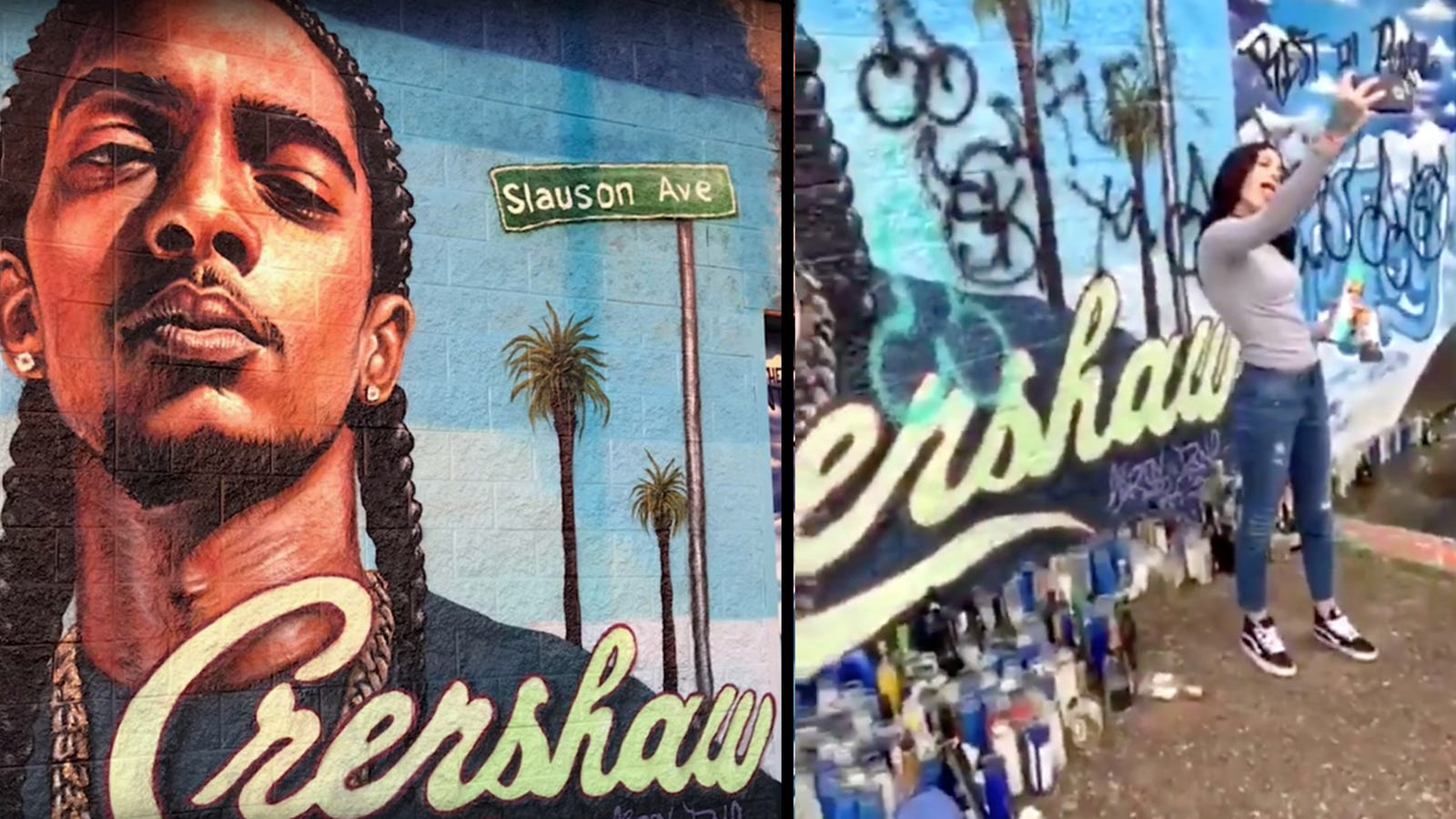 White Woman Defaces Nipsey Hussle Memorial - The Root