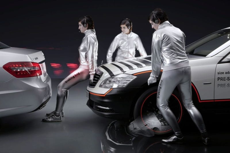 Illustration for article titled Caption This: Mercedes Safety Concept Models