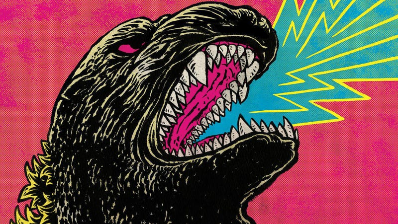 A crop of the epic cover for an even grander Godzilla release.