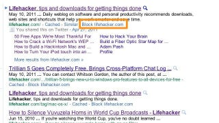 Illustration for article titled Personal Blocklist Filters Out Spam from Your Google Search Results