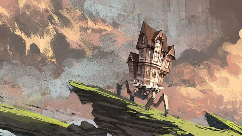 Illustration for article titled Concept Art Writing Prompt: The House on Crab Legs