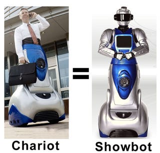 Illustration for article titled Exmovere Wearable Chariot Is A Showbot In Disguise