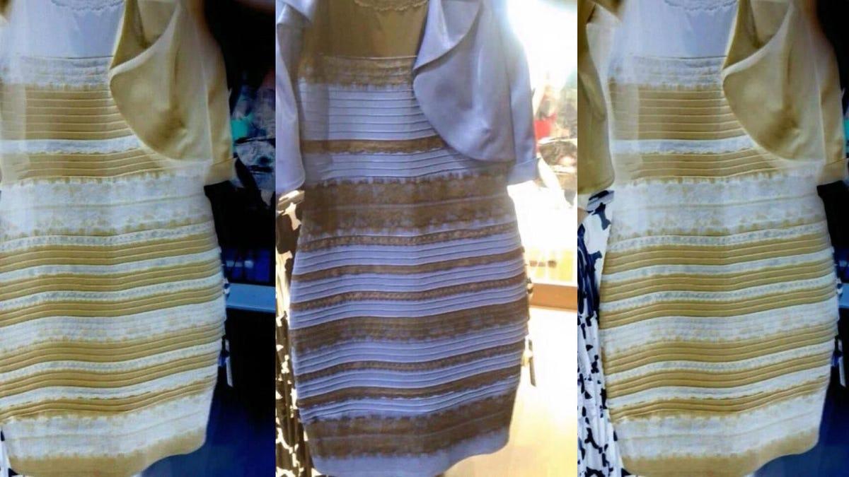 Juego vestido blanco y dorado