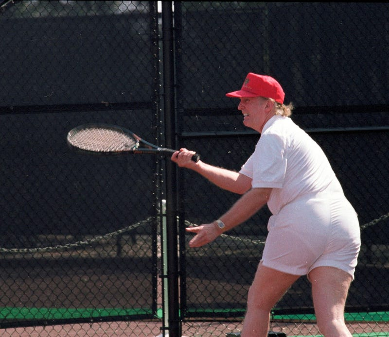 Trump's Tennis-Playing Photos Go Viral (Photos)
