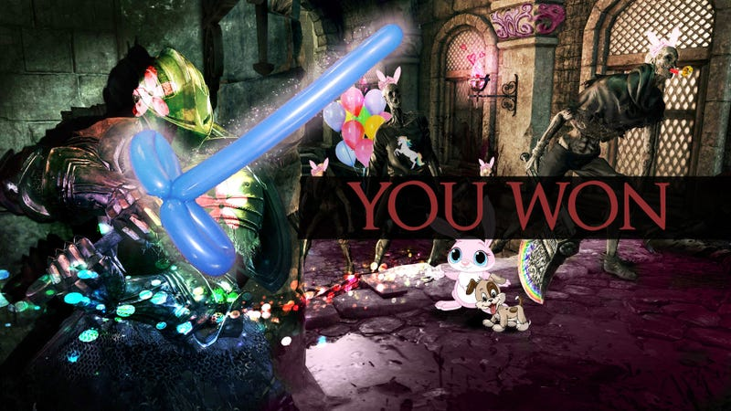 Illustration for article titled Kotaku Shop Contest: Lighten Up, Dark Souls: Winners!