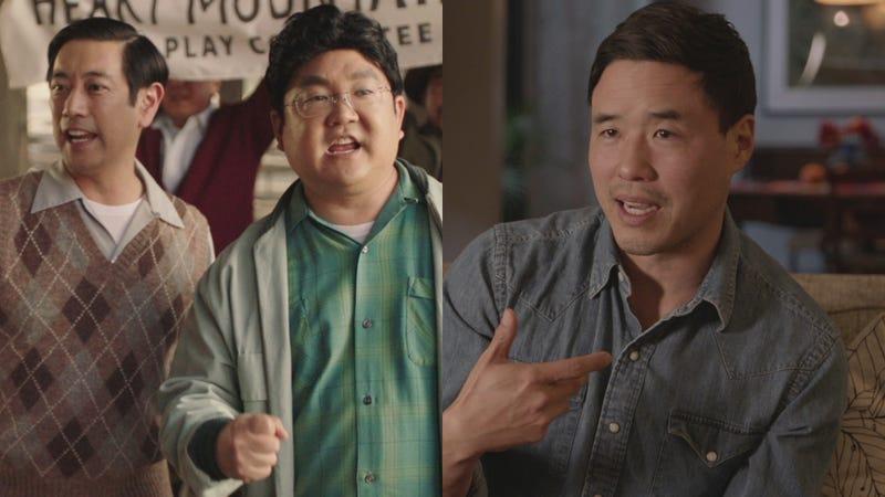Grant Imahara (left), Aaron Takahashi, and Randall Park on Drunk History