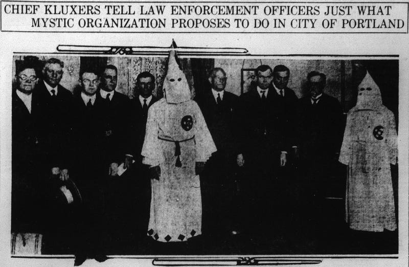 Image result for KKK history Washington State Native Americans