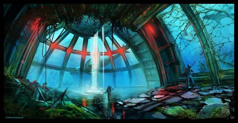 Illustration for article titled Concept Art Writing Prompt: Somewhere Beneath The Sea