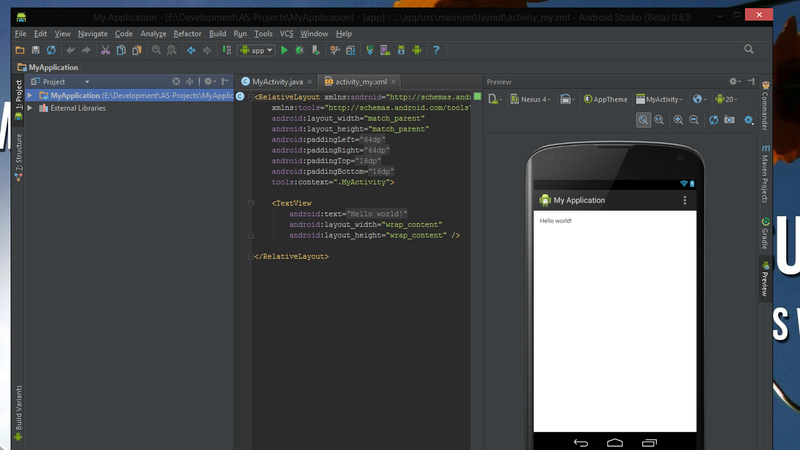 how to write android apps program