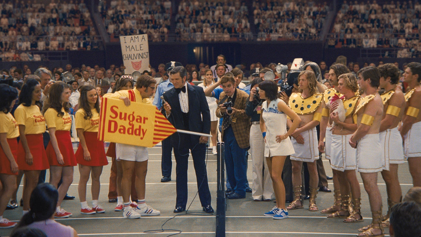 the battle of the sexes in The 1973 tennis match between billie jean king and bobby riggs was a spectacle made for hollywood king was at the top of her game, the first female player to win over $100,000 in a year riggs.