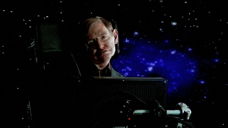 Illustration for article titled Benedict Cumberbatch paid earthly tribute, but Stephen Hawking's voice is going to deep space