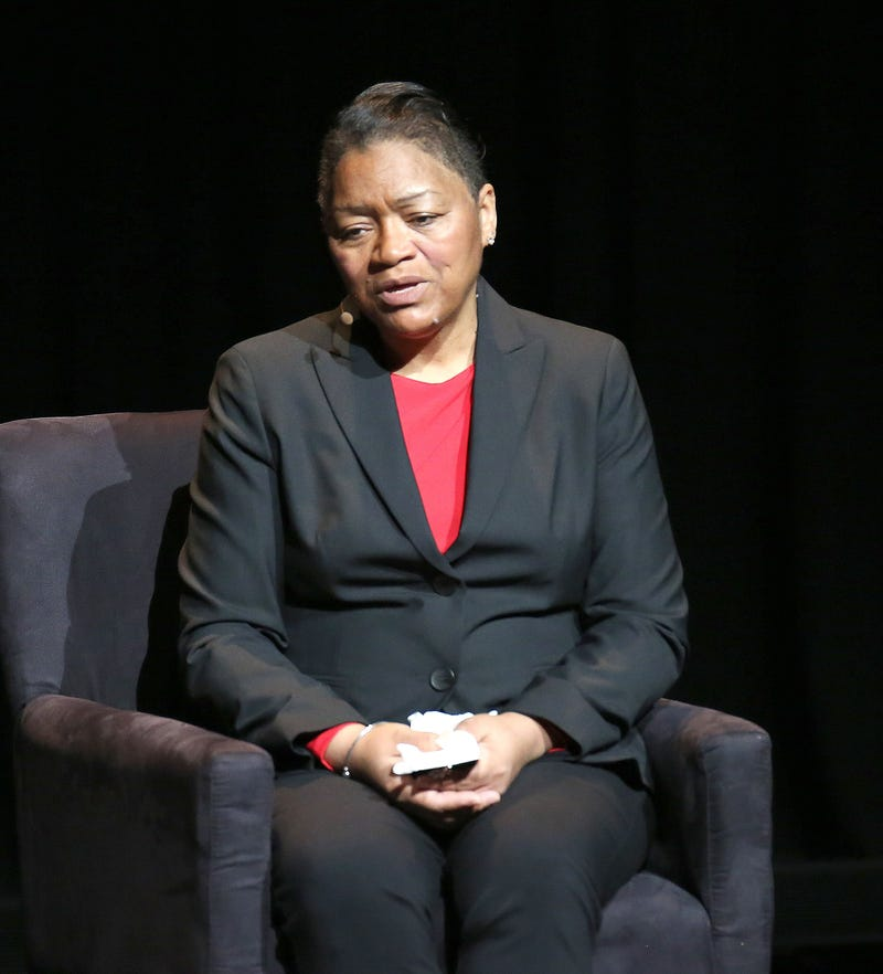 Venida Browder, the mother of Kalief Browder, speaking at an American justice summit in New York City on Jan. 29, 2016Paul Zimmerman/WireImage