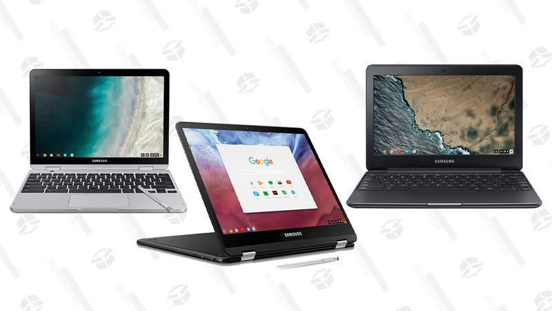 Samsung Chromebook Plus, 2-in-1, 4GB RAM, 64GB eMMC, Celeron Processor | $380 | AmazonSamsung Chromebook Pro, 2-in-1, 4GB RAM, 32GB eMMC, Intel Core M3 | $400 | AmazonSamsung Chromebook 3, 4GB Ram, 64GB eMMC, Celeron Processor | $200 | Amazon