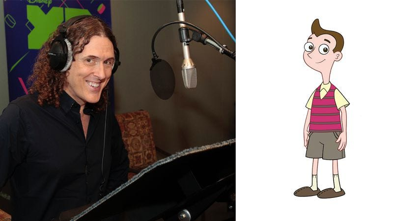 """Weird Al"" Yankovic and Milo Murphy (Photo: Disney XD/Rick Rowell; Illustration: Disney XD)"