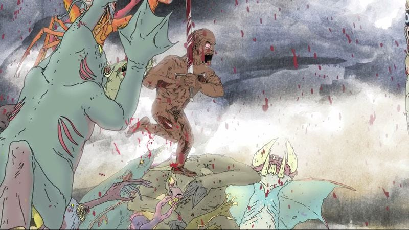 Illustration for article titled Revel in the glorious goriness of Odin's Afterbirth