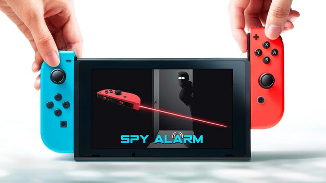 The Switch is Getting an Intruder Alert App That Uses a Joy-Con as a Laser Tripwire