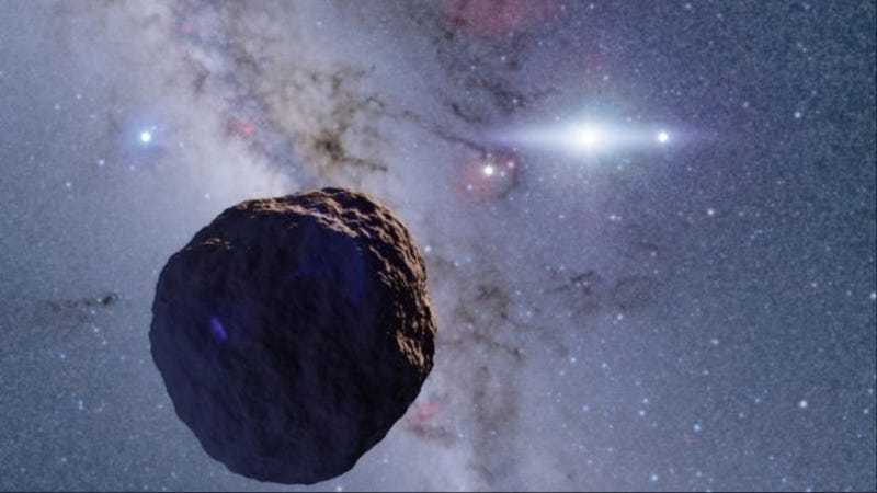 Illustration for article titled Logran detectar por primera vez desde la Tierra un objeto diminuto en los límites del Sistema Solar