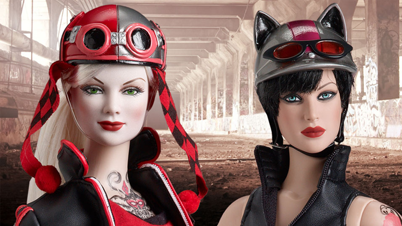 Illustration for article titled Harley Quinn and Catwoman Become Biker Barbies With Tonner's 'Gotham City Garage' Dolls