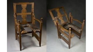 Illustration for article titled This adjustable chair let 18th-century women give birth in something approaching comfort
