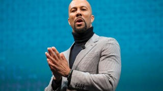 Common speaks during the Starbucks annual shareholders meeting March 18, 2015, in Seattle. Common spoke as part of Starbucks' Race Together program, an effort to promote discussion on racial inequality in the United States.Stephen Brashear/Getty Images