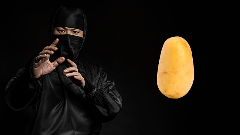 Illustration for article titled Last Call: How to stab a straw through a potato like a ninja