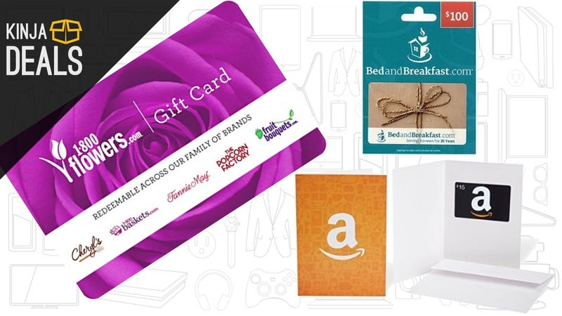 Illustration for article titled Need a Last Minute Valentine's Day Gift? Amazon Has Some Great Gift Card Deals.