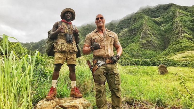 Dwayne Johnson Keeps Pranking Kevin Hart on Jumanji Set