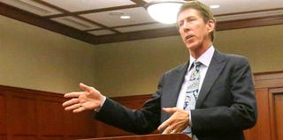 George Zimmerman's lead defense attorney, Mark O'Mara, speaks during a hearing. (Getty Images)
