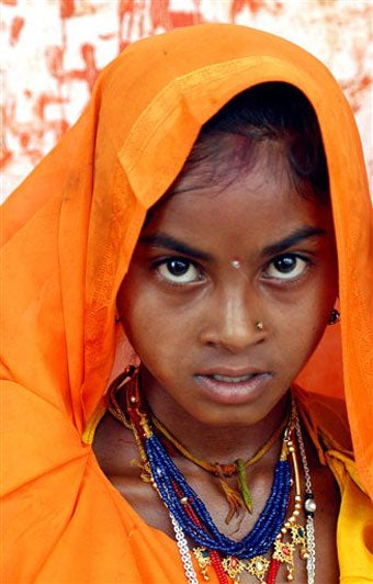 """Illustration for article titled India's Child Brides Say """"I Don't"""""""