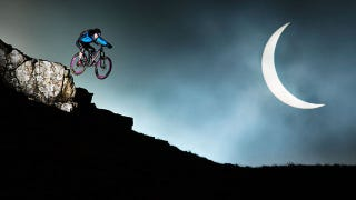 Illustration for article titled Stunt Biker Shoots For The Moon During Recent Solar Eclipse