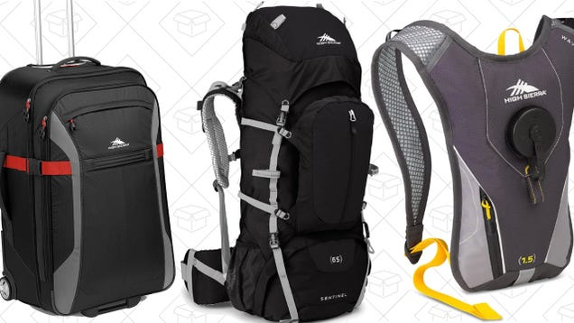 Camping? Hiking? Traveling For a Wedding? This High Sierra Gold Box Has You Covered.